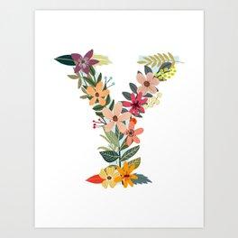 Monogram Letter Y Art Print