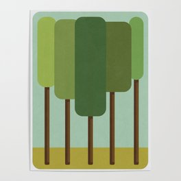 Green Summer Forest Poster