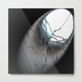 Broken Mirrow in the Spot   (A7 B0156) Metal Print