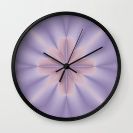 Pink and Lilac 3D Flower Two Wall Clock