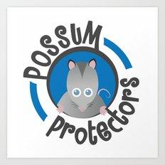 Possum Protectors Art Print