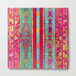 Moroccan Magenta and Turquoise Metal Print