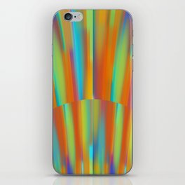 Cooling Metal Copper and Blues Design iPhone Skin