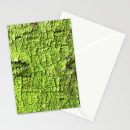 Mossy Green Abstract Stationery Cards