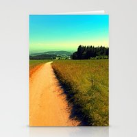 hiking Stationery Cards featuring Hiking on a hot afternoon by Patrick Jobst