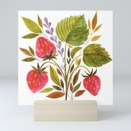 Early Summer Strawberries Are The Sweetest Mini Art Print