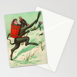 The Krampus stealing a child Stationery Cards