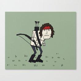 Sad John Rambo In A Field Canvas Print