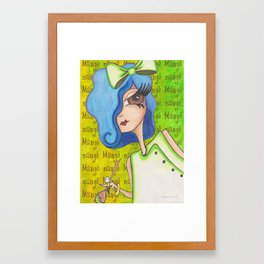 Mange in the kitchen Framed Art Print