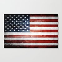 american flag Canvas Prints featuring American flag by Nicklas Gustafsson