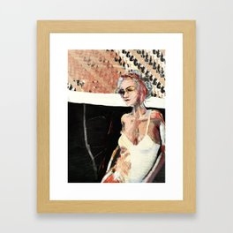 Saint and the Guardian : Mad Zen  Framed Art Print