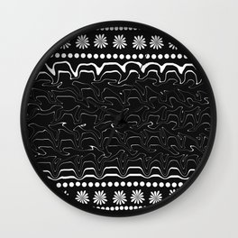 Licorice and flowers Wall Clock
