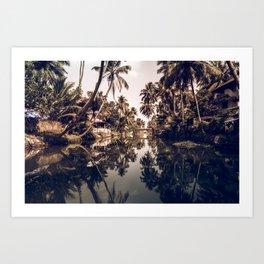 Kerala Backwater Art Print