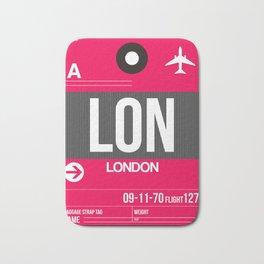 LON London Luggage Tag 2 Bath Mat