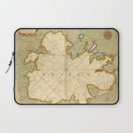 Vintage Map of Antigua (1702) Laptop Sleeve