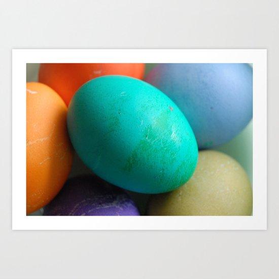 Dyed Eggs Art Print