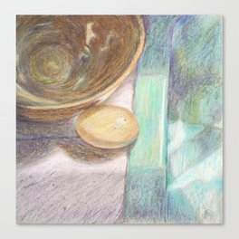 Egg and bowl still life. Canvas Print