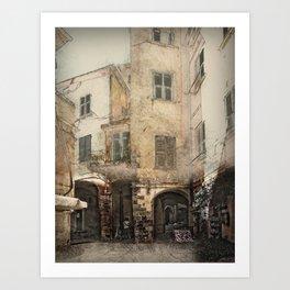 Monterosso Backstreet Art Print