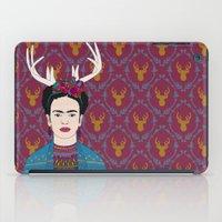 lindsay lohan iPad Cases featuring DEER FRIDA by Bianca Green