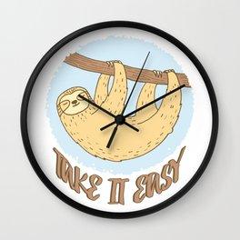 Take It Easy - Sloth Wall Clock