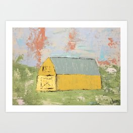 Big Yellow Barn 2 Art Print