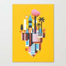 Natural Recall · Support Green Canvas Print