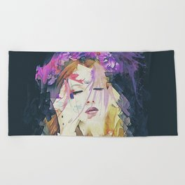Path - Abstract Portrait Beach Towel