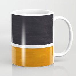 Black Yellow Ochre Rothko Minimalist Mid Century Abstract Color Field Squares Coffee Mug