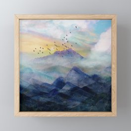 Mountain Sunrise Framed Mini Art Print