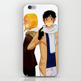 Yuuri and Yuri iPhone Skin