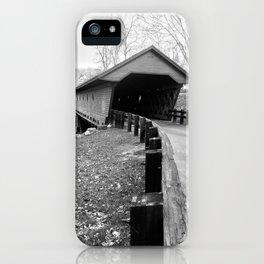 Newfield Covered Bridge 1853 iPhone Case