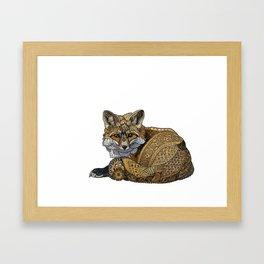 Fox Kit Framed Art Print
