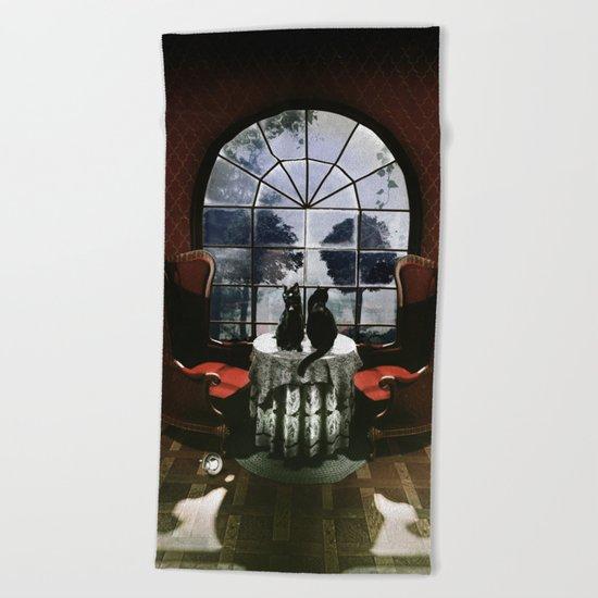 Room Skull Beach Towel