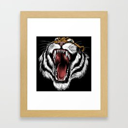 The Hungry Tiger - King of the Indian Jungle  Framed Art Print