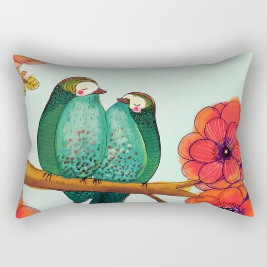 feather bellies Rectangular Pillow
