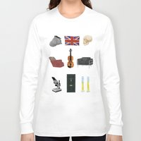 221b Long Sleeve T-shirts featuring 221B Baker Street by CHOCOMINT GEEK