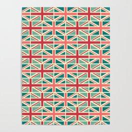 British/UK Flag Pattern Poster