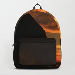 Haystack At Sunset Backpack