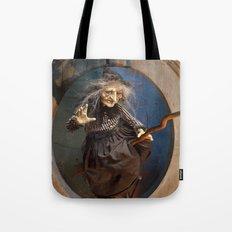 Rucus Studio Witch's Flight Halloween Tote Bag