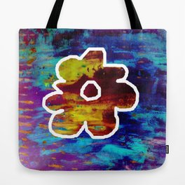Yellow flower in blue Tote Bag