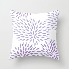 Summer Mums in lilac Throw Pillow