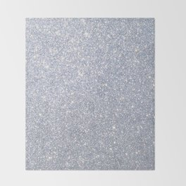 Silver Metallic Sparkly Glitter Throw Blanket