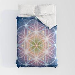 Blue Flower of Life 2 Comforters