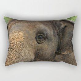 Elephant closeup Rectangular Pillow