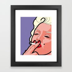 Pop Icons - Marilyn Framed Art Print