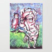 birdman Canvas Prints featuring Birdman by 5wingerone