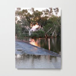 Shaw River Flooded Sunset Metal Print