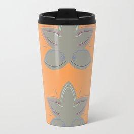 Lotuses grey orange Travel Mug