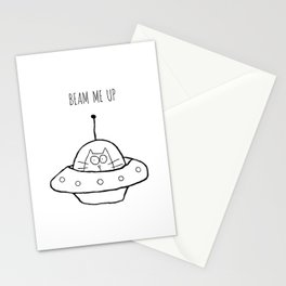 Beam Me Up Stationery Cards