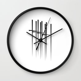""""""" Eclipse Collection"""" - Minimal Letter H Print Wall Clock"""